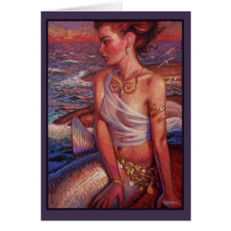 Sunset Mermaid Card