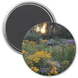 Sunset Mid-September Gardens Magnet