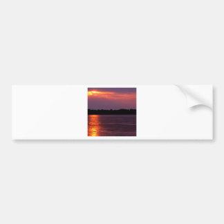Sunset Mississippi River Arkansas Bumper Stickers
