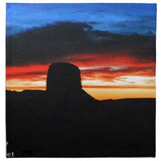 Sunset, Monument Valley, UT Napkin