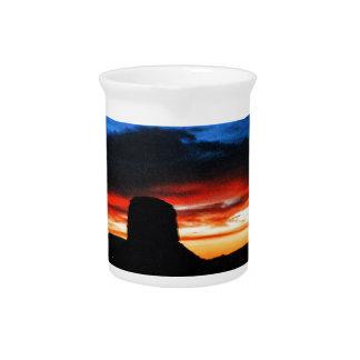 Sunset, Monument Valley, UT Pitcher