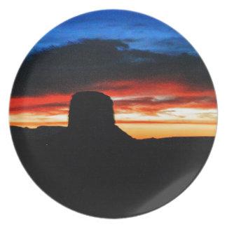 Sunset, Monument Valley, UT Plate