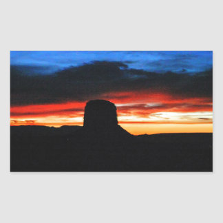 Sunset, Monument Valley, UT Rectangular Sticker
