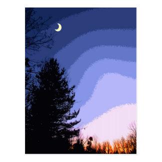 Sunset Moon Postcard