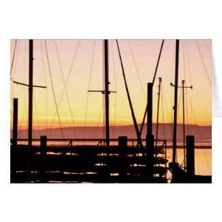 Sunset Morro Bay Card