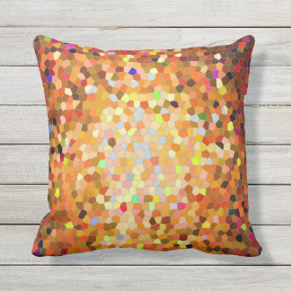 Sunset Mosaic outdoor pillow