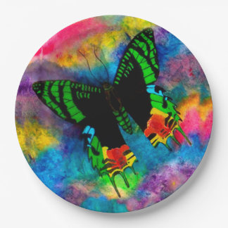 Sunset Moth Paper Plates