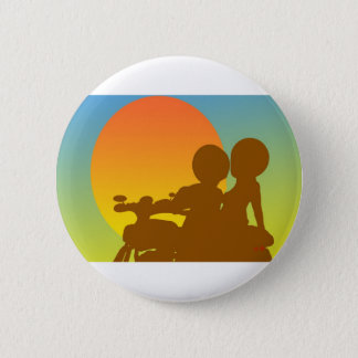 sunset motorcycle 6 cm round badge