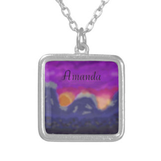 Sunset Mountain Necklace