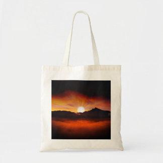 Sunset Mountain Silhouettes Nature Scenery