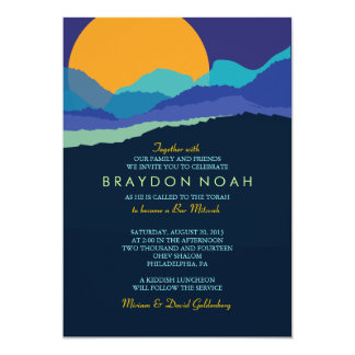 SUNSET & MOUNTAINS Bar Bat Mitzvah Invitation