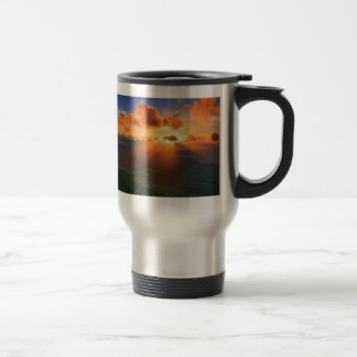 Sunset 15 Oz Stainless Steel Travel Mug