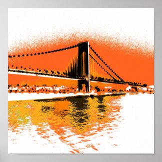 Sunset Narrows Bridge print