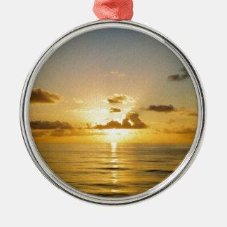 Sunset North of Bermuda Metal Ornament