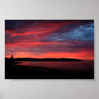 Sunset Nova Scotia Poster