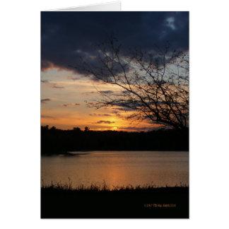 Sunset November 5th Greeting Card