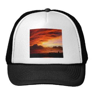 Sunset Oahu Evening Trucker Hats
