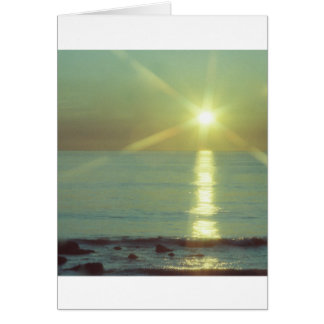 """""""Sunset Ocean"""" All-occasion greeting card"""