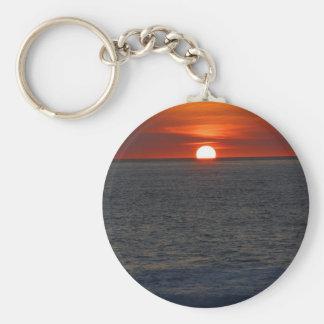 Sunset Ocean Key Ring
