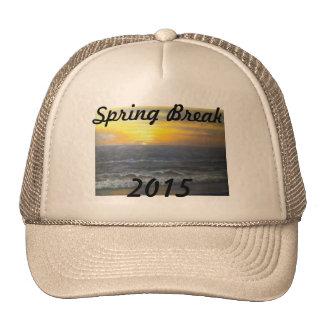 """""""SUNSET OCEAN SPRING BREAK 2015 HAT"""" TRUCKER HAT"""