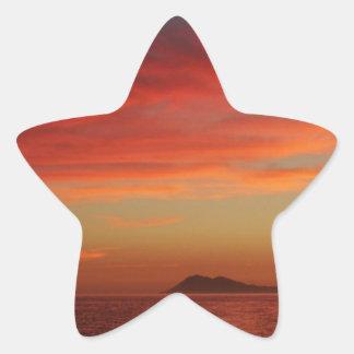 Sunset off the coast of Spain. Star Sticker