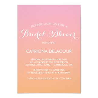 Sunset Ombre Gradient Bridal Shower Invitation
