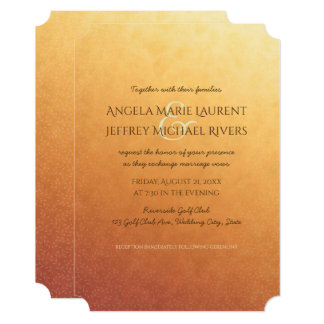 Sunset Ombre Gradient Evening Wedding Invitation