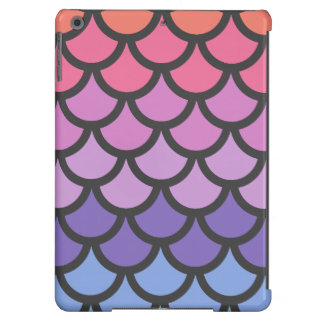 Sunset Ombre Mermaid Scales Cover For iPad Air