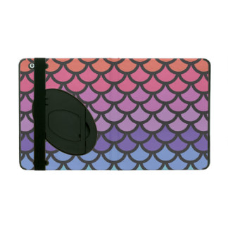 Sunset Ombre Mermaid Scales iPad Case