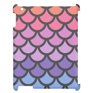 Sunset Ombre Mermaid Scales iPad Covers