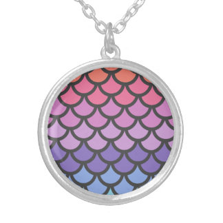 Sunset Ombre Mermaid Scales Pendants
