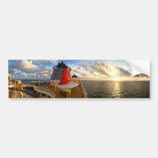 Sunset on a Cruise Ship Bumper Sticker