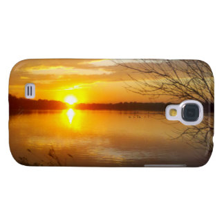 Sunset On A Lake Galaxy S4 Cases