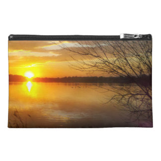 Sunset On A Lake Travel Accessory Bag