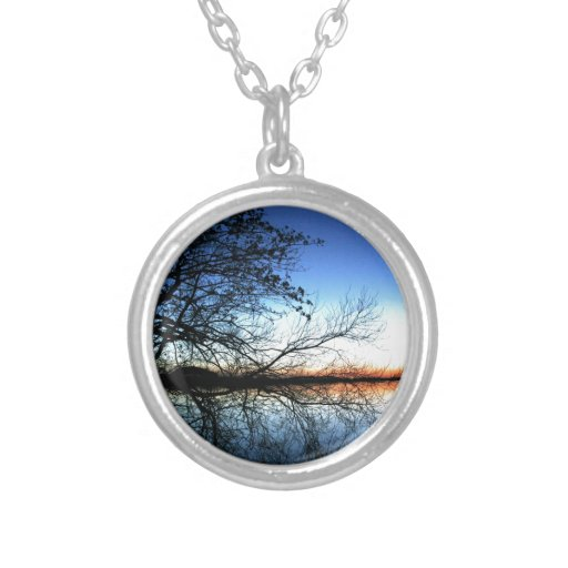 Sunset on a Lake with Tree Branch Silhouette Custom Jewelry