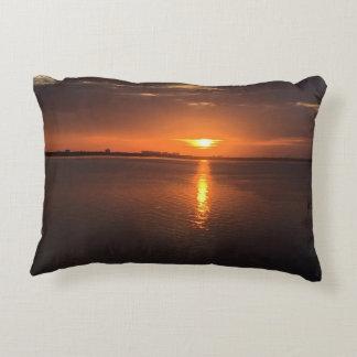 Sunset on a long summer day decorative cushion