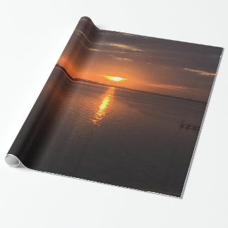 Sunset on a long summer day wrapping paper