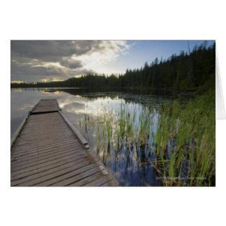 Sunset On A Small Lake Card
