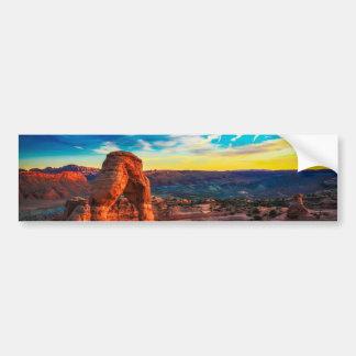 Sunset On Arches Park Bumper Sticker
