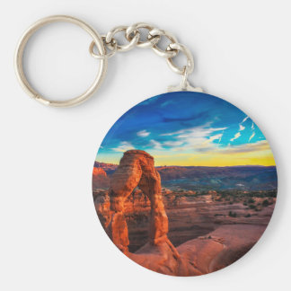 Sunset On Arches Park Key Ring