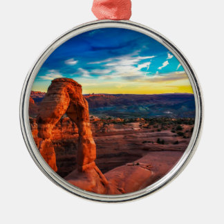 Sunset On Arches Park Metal Ornament