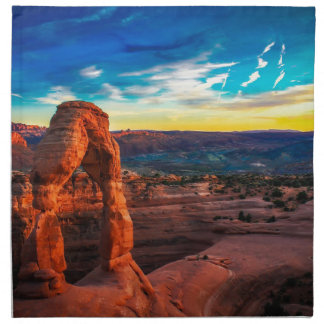 Sunset On Arches Park Napkin