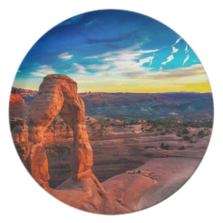 Sunset On Arches Park Plate