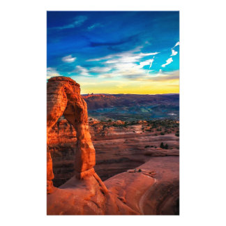 Sunset On Arches Park Stationery
