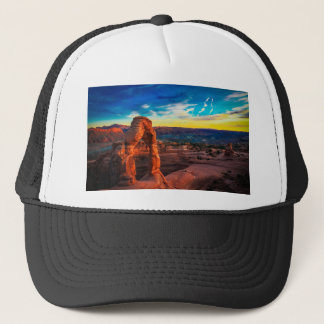 Sunset On Arches Park Trucker Hat