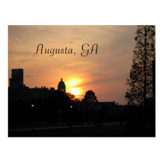 sunset on augusta, Augusta, GA Postcard