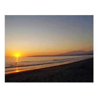 Sunset on Bucerias Beach, Mexico Postcard
