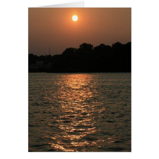 Sunset on Delaware Card