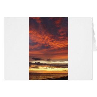 Sunset on Fort Myers Beach Card