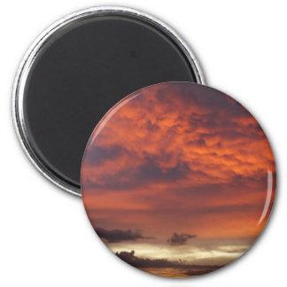 Sunset on Fort Myers Beach Fridge Magnet